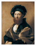 Portrait of Baltazar Castiglione Affiche par  Raphael