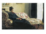 Meditation, or Madame Monet on the Sofa Posters by Claude Monet