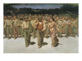 The Fourth Estate Giclée-tryk af Giuseppe Pellizza da Volpedo