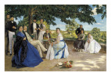 Family Reunion Giclee Print by Jean-Frederic Bazille