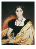 Portrait of Madame Devauçay Art by Jean-Auguste-Dominique Ingres