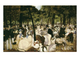 Music in the Tuileries Gardens Prints by Édouard Manet