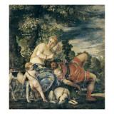 Venus & Adonis Giclée-Druck von Paolo Veronese