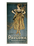 Poster of the Russian Ballets Posters by Anna Pavlova
