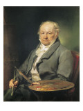 Portrait of Francisco De Goya Premium Giclee Print by Vicente Lopez y Portana