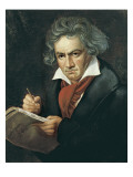 Ludwig Van Beethoven Composing the Missa Solemnis Giclee Print by Josef Karl Stieler