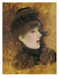 Portrait of Sarah Bernhardt Reproduction proc&#233;d&#233; gicl&#233;e par Giuseppe De Nittis