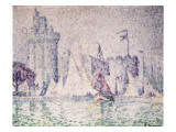 Port of La Rochelle Giclee Print by Paul Signac