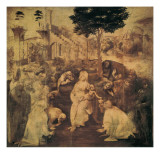 Adoration of the Magi (stained glass) Reproduction procédé giclée par Leonardo da Vinci