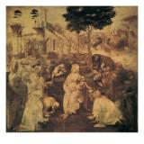 Adoration of the Magi Premium Giclée-tryk af Leonardo da Vinci,