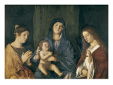 Virgin and Child with St Giclee Print by Giovanni Bellini