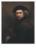 Self-Portrait Poster by  Rembrandt van Rijn