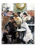 At the Bar Premium Giclee Print by Ricardo Canals y Llambi