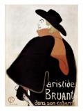 Aristide Bruant in His Cabaret Plakater av Henri de Toulouse-Lautrec