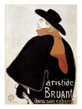 Aristide Bruant in His Cabaret Prints by Henri de Toulouse-Lautrec