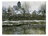 The Church at Vetheuil under Snow Giclee Print by Claude Monet