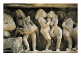 Relief with Erotic Scenes of the Tantrism (10th-11th C) Prints