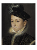 Portrait of King Charles IX of France Reproduction proc&#233;d&#233; gicl&#233;e par Francois Clouet