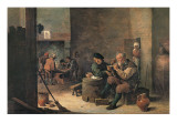 Smokers Prints by David Teniers the Younger