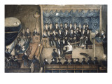 Initiation Ceremony of a Freemason (19th C) Giclee Print