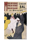 Moulin Rouge: La Goulue Art Print by Henri de Toulouse-Lautrec