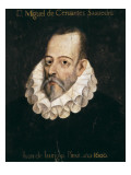 Miguel De Cervantes Saavedra Giclee Print by Juan De Jauregui Y Aguilar