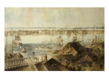 View of New York from Brooklyn Heights Prints by John William Hill