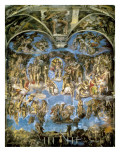 Sistine Chapel, the Last Judgement Reproduction procédé giclée