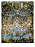Sistine Chapel, the Last Judgement Giclee-tryk i høj kvalitet