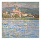 Morning at V&#233;theuil Giclee Print by Claude Monet