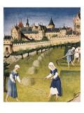 The Richly Decorated Hours of the Duke of Berry: Calendar: June Giclée-Druck von Jean Limbourg