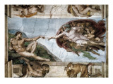 Sistine Chapel, the Creation of Adam Reproduction proc&#233;d&#233; gicl&#233;e
