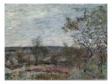 Windy Day at Veneux Prints by Alfred Sisley