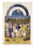 The Richly Decorated Hours of the Duke of Berry: Calendar: June Premium Giclee Print by Jean Limbourg