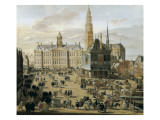 Damm Square in Amsterdam Prints by Jacob van der Ulft