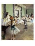 In der Tanzstunde Giclée-Premiumdruck von Edgar Degas