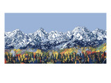 5 Peaks Giclee Print by HR-FM 