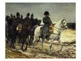 Napoleon on Campaign in France,1814 Premium Giclee Print by Jean-Louis Ernest Meissonier