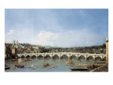 Westminster Bridge from the North Gicl&#233;e-Druck von Canaletto 