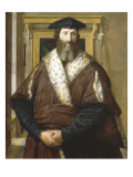 Portrait of Condottiere Malatesta Baglione Poster by  Parmigianino