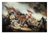 The Battle of Bunker Hill Premium Giclee Print by John Trumbull