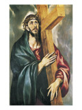 Christ with the Cross Posters by  El Greco