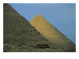 Pyramids of Khafre and Khufu Giclee Print