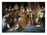 Consecration of the Emperor Napoleon and the Coronation of the Empress Josephine by Pope Pius VII Giclee Print by Jacques-Louis David