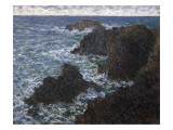 The Rocks at Belle-Ile, the Wild Coast Reproduction procédé giclée par Claude Monet