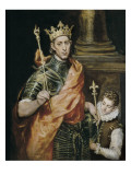 Saint Louis and His Page Prints by  El Greco