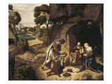 The Adoration of the Shepherds Prints by  Giorgione