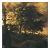 Paysage Reproduction procédé giclée par Jacob van Ruisdael
