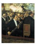 The Opera Orchestra Gicléedruk van Edgar Degas
