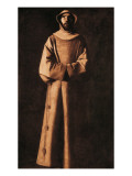 Saint Francis of Assisi after the Vision of Pope Nicholas V Prints by Francisco de Zurbarán